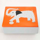 Elephant Orange Trinket Box by Wayland Gregory Ceramics | Gracious Style