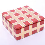 Grid Red Trinket Box by Wayland Gregory Ceramics | Gracious Style