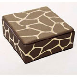 Giraffe Print Brown Trinket Box by Wayland Gregory Ceramics | Gracious Style