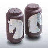 Horse Brown Salt & Pepper Shakers by Wayland Gregory | Gracious Style