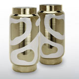 Lava Platinum Salt & Pepper Shakers by Wayland Gregory | Gracious Style