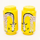 Giraffe Yellow Salt & Pepper Shakers by Wayland Gregory | Gracious Style