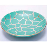 Giraffe Print Green Bullet Bowl by Wayland Gregory Ceramics | Gracious Style