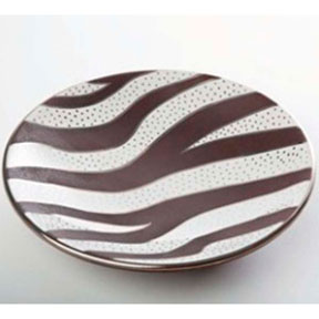 Zebra Dots Platinum Bullet Bowl by Wayland Gregory Ceramics | Gracious Style