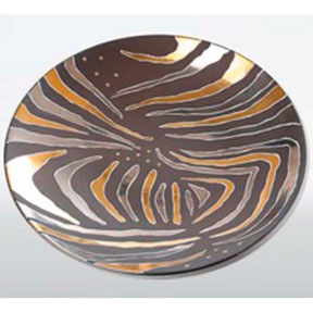 Tiger Stripe Brown Bullet Bowl by Wayland Gregory Ceramics | Gracious Style