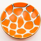 Giraffe Print Orange Bullet Bowl by Wayland Gregory Ceramics | Gracious Style