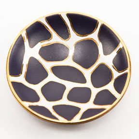 Giraffe Print Purple Bullet Bowl by Wayland Gregory Ceramics | Gracious Style