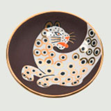 Leopard Brown Bullet Bowl by Wayland Gregory Ceramics | Gracious Style
