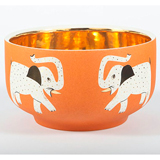 Elephant Orange Chubby Bowl by Wayland Gregory Ceramics | Gracious Style