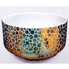 Gold Dot Chubby Bowl by Wayland Gregory Ceramics | Gracious Style