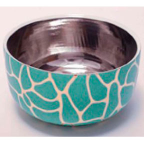 Giraffe Print Green Chubby Bowl by Wayland Gregory Ceramics &#124; Gracious Style