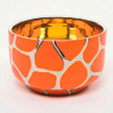 Giraffe Print Orange Chubby Bowl by Wayland Gregory Ceramics | Gracious Style