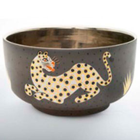 Leopard Brown Chubby Bowl by Wayland Gregory Ceramics | Gracious Style