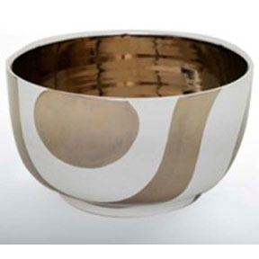 Mod Zebra White/Platinum Chubby Bowl by Wayland Gregory Ceramics | Gracious Style