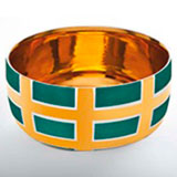 Grid Turquoise Chubby Bowl by Wayland Gregory Ceramics | Gracious Style