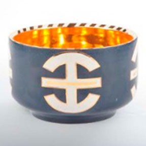 Asia Blue Chubby Bowl by Wayland Gregory Ceramics &#124; Gracious Style