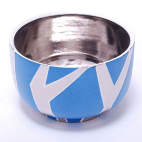 Zebra Blue/Platinum Chubby Bowl by Wayland Gregory Ceramics | Gracious Style