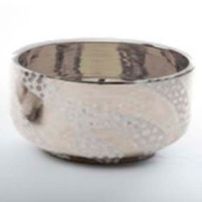 Zebra Dots Platinum Chubby Bowl by Wayland Gregory Ceramics | Gracious Style