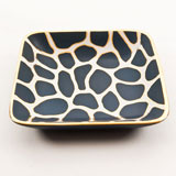 Giraffe Print Blue/White Tray by Wayland Gregory Ceramics | Gracious Style