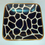 Giraffe Print Purple/Gold Tray by Wayland Gregory Ceramics | Gracious Style