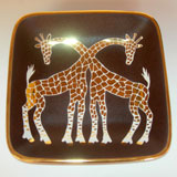 Double Giraffe Tray by Wayland Gregory Ceramics | Gracious Style