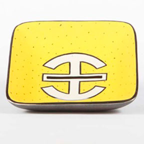 Asia Yellow Tray by Wayland Gregory Ceramics &#124; Gracious Style