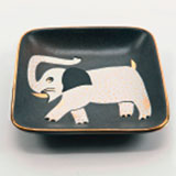 Elephant Gray Tray by Wayland Gregory Ceramics | Gracious Style