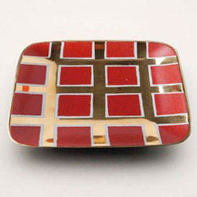 Grid Red Tray by Wayland Gregory Ceramics | Gracious Style