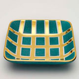 Grid Blue Tray by Wayland Gregory Ceramics | Gracious Style