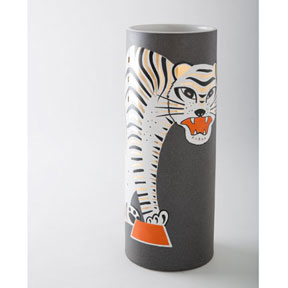 Tiger Brown Vase by Wayland Gregory Ceramics | Gracious Style