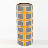 Grid Grey Vase by Wayland Gregory Ceramics | Gracious Style