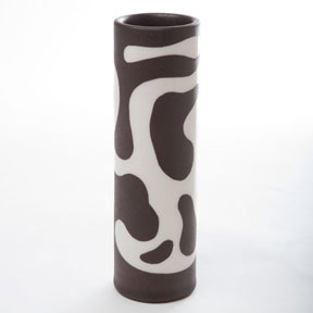 Lava Black Vase by Wayland Gregory Ceramics | Gracious Style