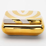 Mod Zebra Gold Curved Box by Wayland Gregory Ceramics | Gracious Style