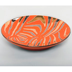Tiger Stripe Orange Bullet Bowl by Wayland Gregory Ceramics | Gracious Style