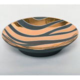 Zebra Print Grey Bullet Bowl by Wayland Gregory Ceramics | Gracious Style