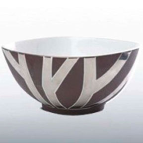 Zebra Pasta Bowl by Wayland Gregory Ceramics | Gracious Style