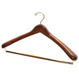 Dark Wood Luxury Suit Hanger | Gracious Style