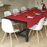 Le Jacquard Francais Geometric Flowers Red & Pink Table Linens | Gracious Style