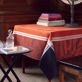 Le Jacquard Francais Manège Leather Table Linens | Gracious Style