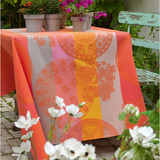 Fleurs Gourmandes Coated Peach Table Linens