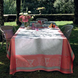 Flanerie Corail Easy Care Table Linens