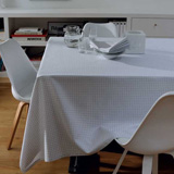 Garnier-Thiebaut Illusion Grey Easy Care Table Linens | Gracious Style