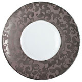 French Cancan Platinum Incrustation Dinner Plate | Gracious Style
