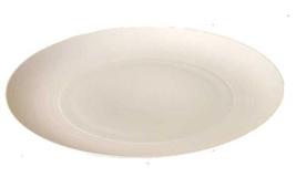 Hemisphere White Medium Flat Round Dish 12.6 in | Gracious Style