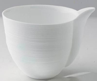 Hemisphere White Large Creamer 3 in High 8.75 oz | Gracious Style
