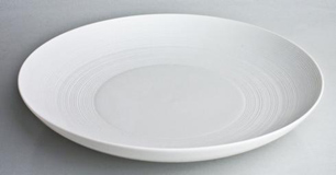 Hemisphere White Pasta Plate 28 oz 9.5 in Round | Gracious Style