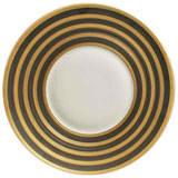 J.L. Coquet Hemisphere Sepia Gold Stripe Dinnerware | Gracious Style
