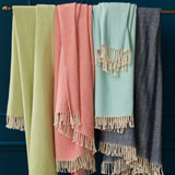 Celine Herringbone Throw Blanket | Gracious Style