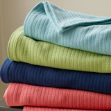 Grant Cotton Blanket by Sferra | Gracious Style