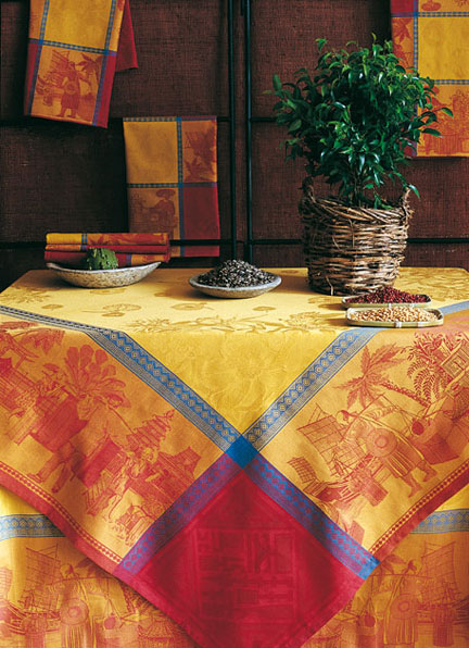 Chinese Market Table Linens